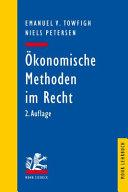 Okonomische Methoden Im Recht PDF