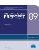The Official LSAT PrepTest 89 Book