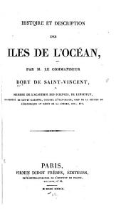 Histoire et description des iles de l'océan