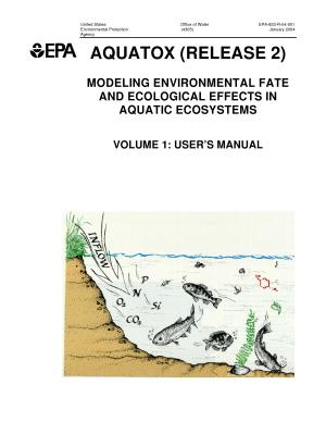 AQUATOX (Release 2) modeling environmental fate and ecological effects in aquatic ecosystemsvolume 1user's manual.
