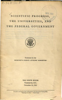 Scientific Progress  the Universities  and the Federal Government PDF