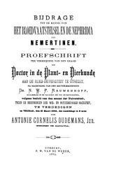 Bijdrage tot de kennis van het bloedvaatstelsel en de nephridia der nemertinen: Volume 1
