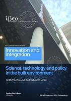 IBEA Conference 2011 Proceedings  Innovation and Integration   Science  Technology and Policy in the Built Environment PDF