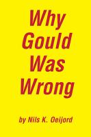 Why Gould Was Wrong PDF