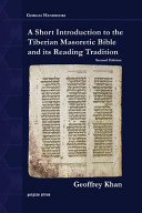 A Short Introduction to the Tiberian Masoretic Bible and Its Reading Tradition PDF