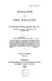 England and the English: Volume 2