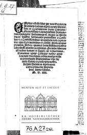 Commentariorum urbanorum liber ... (Accedit Xenophontis Oeconomicus per R. Volaterranum conversus).