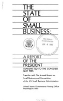 The State of Small Business PDF