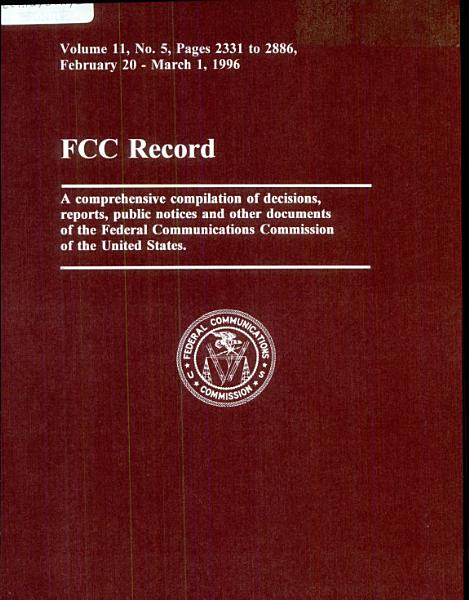 Before The Federal Communications Commission Washington D C In The Matter Of Amendment Of The Commissions Rules To Establish New Personal Communications Services