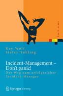 Incident Management   Don t Panic  PDF