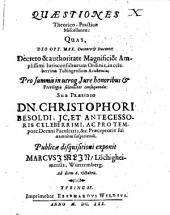 Quaestiones theoretico-practicae miscellaneae