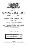 The New Annual Army List  Militia List  and Yeomanry Cavalry List PDF