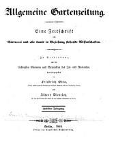 Berliner allgemeine Gartenzeitung: Band 12
