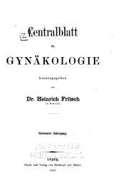 Zentralblatt für Gynäkologie: Band 7