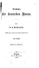 Geschichte der deutschen Hansa  th  bd  3  Vom jahre 1273 1361 PDF