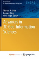 Advances in 3D Geo-Information Sciences