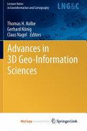 Advances in 3D Geo Information Sciences PDF