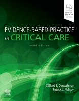 Evidence Based Practice of Critical Care E Book PDF
