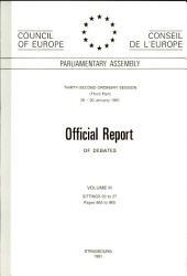 Offical report of debates volume III