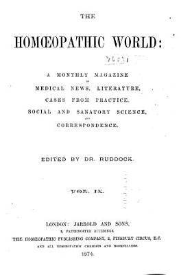 The Homoeopathic World PDF