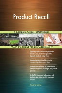 Product Recall A Complete Guide   2020 Edition PDF