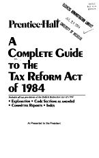 A Complete Guide to the Tax Reform Act of 1984 PDF