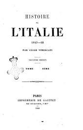 Histoire de l'Italie 1848-49: Volume4