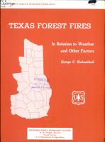 Texas Forest Fires in Relation to Weather and Other Factors PDF