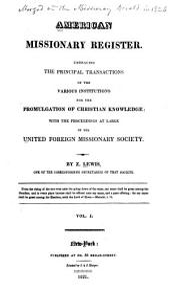 American Missionary Register: Volume 1