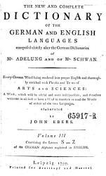Vollst Ndiges W Rterbuch Der Englischen Sprache F R Die Deutschen The New And Complete Dictionary Of The German And English Languages Book PDF