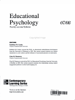 Annual Editions  Educational Psychology 07 08 PDF