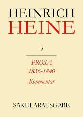 Prosa 1836-1840. Kommentar