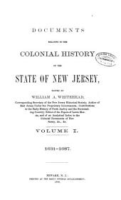 Documents Relating to the Colonial History of the State of New Jersey, [1631-1776]