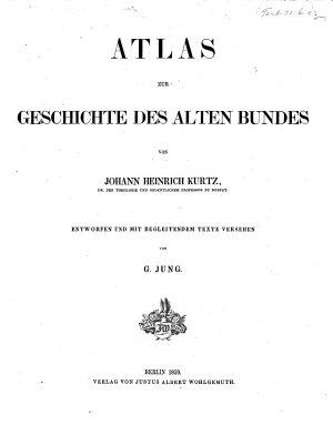 Atlas     Entworfen und mit begleitendem Texte versehen von G  Jung PDF