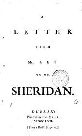 A Letter from Mr. Lee to Mr. Sheridan: Volume 4