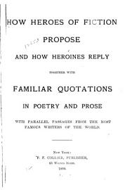How Heroes of Fiction Propose and how Heroines Reply PDF