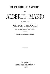 Scritti letterari e artistici di Alberto Mario
