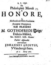 Ex philosophia morali, de honore diss