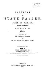 Calendar of State Papers  Foreign Series  of the Reign of Elizabeth PDF