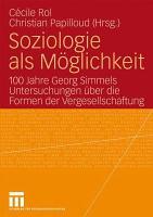 Soziologie als M  glichkeit PDF