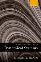 A Modern Introduction to Dynamical Systems PDF