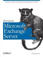 Managing Microsoft Exchange Server PDF