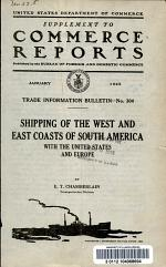 Shipping of the West and East Coasts of South America with the United States and Europe