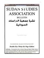 Sudan Studies Association Bulletin PDF