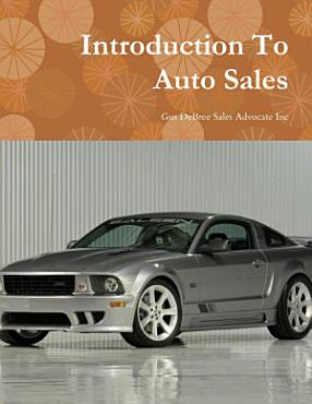 Introduction To Auto Sales PDF