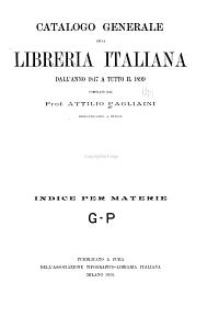 Catalogo generale della libreria Italiana dall anno 1847 a t PDF