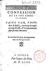 Confession de la foy chrestienne