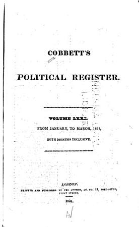 Cobbett s Weekly Political Register PDF