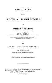 The History of the Arts and Sciences of the Ancients