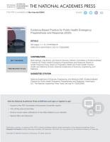 Evidence Based Practice for Public Health Emergency Preparedness and Response PDF